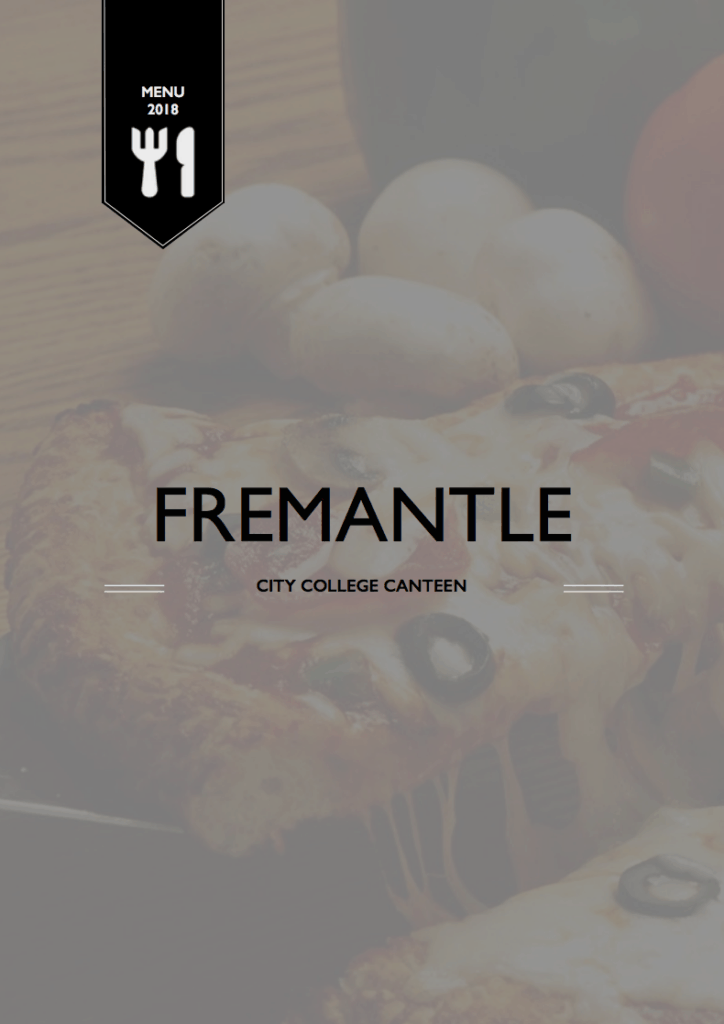 Fremantle College Cafe Menu