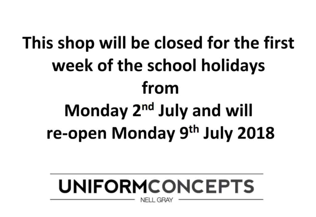 Uniform Concept School Holiday Closures